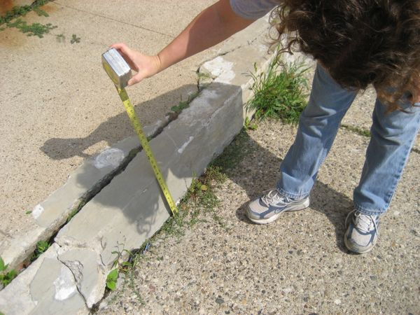 Measuring-front-walk