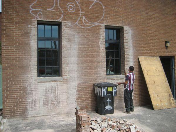 Annex front windows
