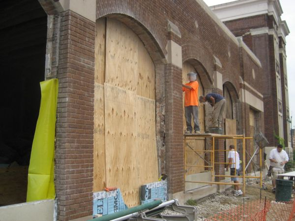 Working on front windows