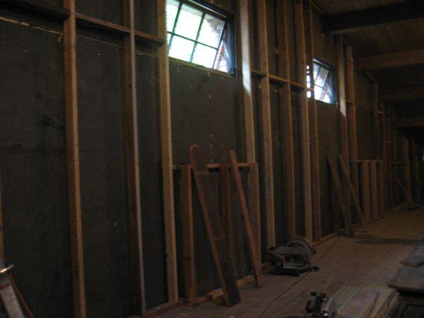 Framing walls upstairs