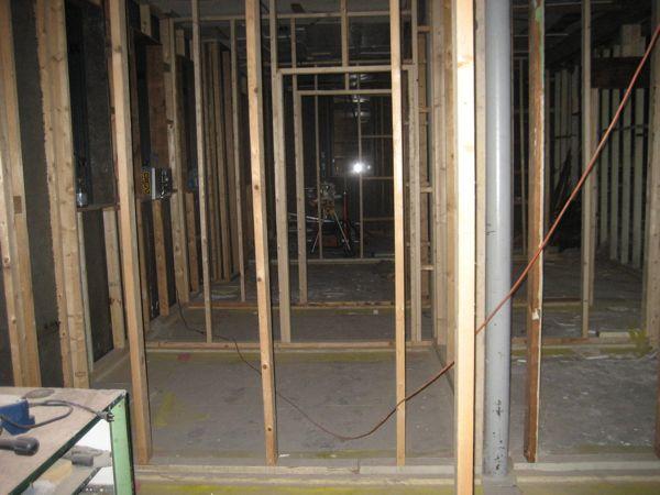 Back rooms taking shape