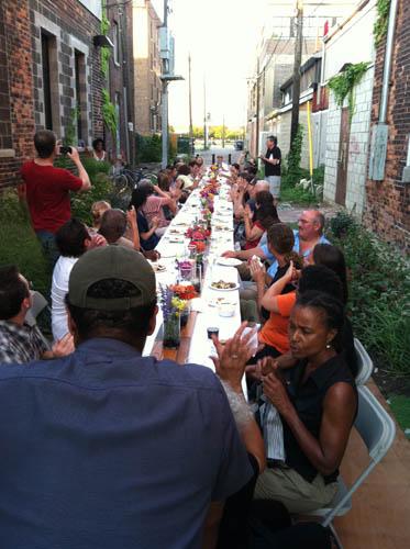 Alley birthday dinner