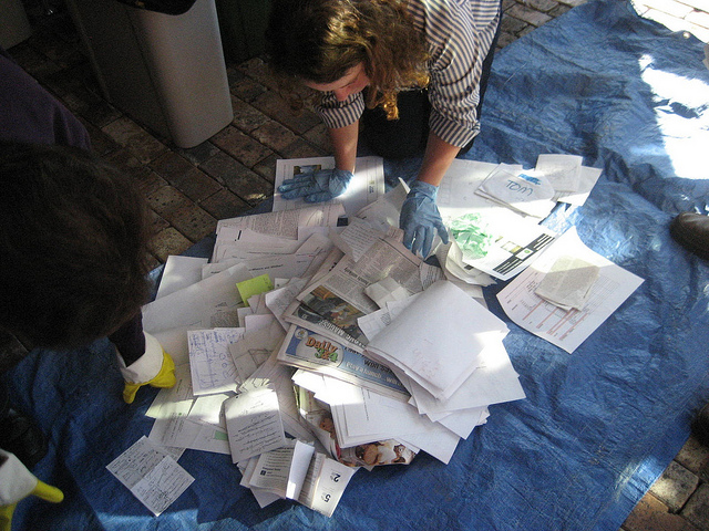 Sorting through mixed paper
